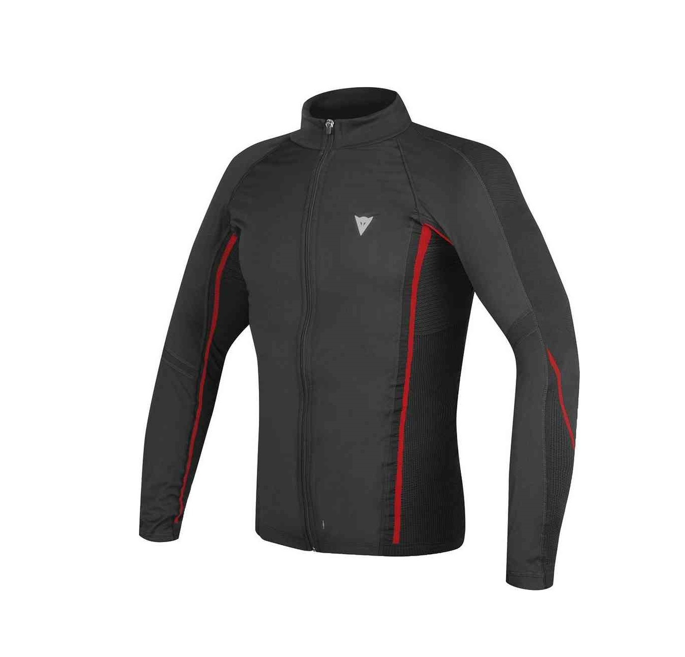 D-CORE NO-WIND THERMO TEE LS, BLACK / RED